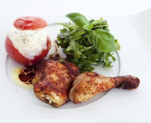Prøv også Kyllinglår med bakt tomat og mozzarella.