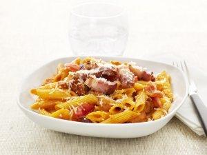 Prøv også Penne Rigate Affumicate, Penne Rigate med bacon og cherrytomater.