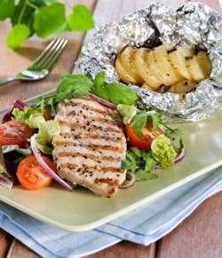 Prøv også Grillet skinkebiff med foliebakte poteter.