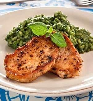 Prøv også Schnitzel med spinatrisotto.