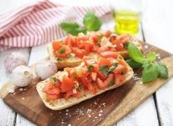 Prøv også Bruschetta med tomater.