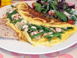 Prøv også Omelett med reker.