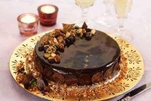 Suksess-kake med rom og svisker oppskrift.