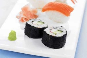 Prøv også Maki sushi med agurk og CrabSticks.