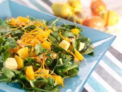 Bilde av Appelsinsalat med ost.