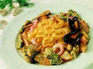 Prøv også Pasta med kylling, laks, reker og blåskjell (ny).