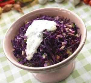 Prøv også Rødkålsalat med eple og stilkselleri.