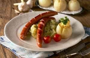 Prøv også Hjemmelaget potetstappe og bakt løk.