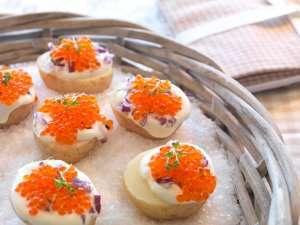 Bilde av Ferskpoteter og kaviar.