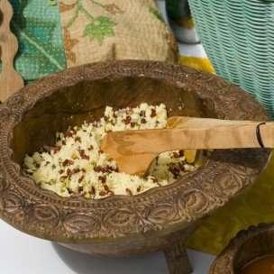 Prøv også Couscoussalat med pistasjnøtter og tørkede rips.