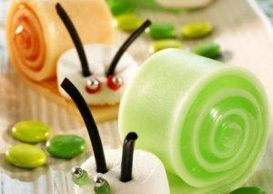 Snegler av gele oppskrift.