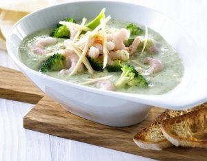Try also Brokkolisuppe med reker ny.