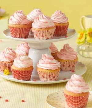 Bilde av Cup Cakes med marmorert sm�rkrem.