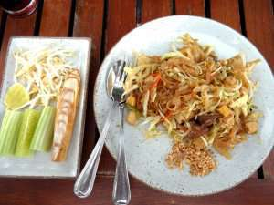 Prøv også Pad Thai med kylling.