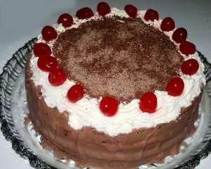Fransk Black forest kake oppskrift.