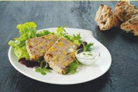 Champignonpaté med kalvekjøtt og pistasjnøtter oppskrift.
