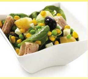 Prøv også Salat med tunfisk, poteter og erter.