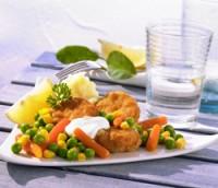 Les mer om Chicken nuggets med grønnsaker og créme fraíche hos oss.