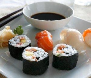 Prøv også Marit Bjørgens sushi.