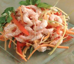Les mer om Salat med reker, grønnsaker og thaikrydder hos oss.