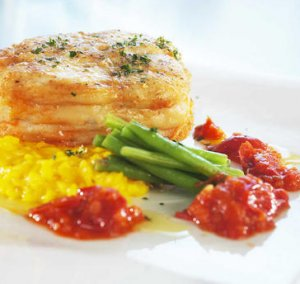 Prøv også Osso bucco av steinbit på risotto og gremolata.