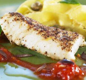 Prøv også Steinbit med koriander og saus av tomat og basilikum.