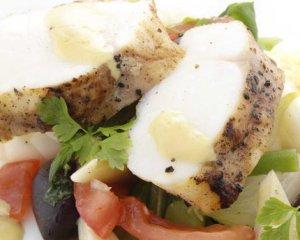 Prøv også Salat med stekt breiflabb.