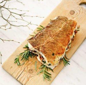 Prøv også Torskestek med sopp - og baconfyll.