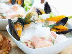 Prøv også Fiskesuppe med skalldyr og laks.
