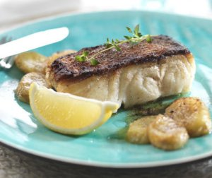 Prøv også Stekt lettsaltet torsk med banan.