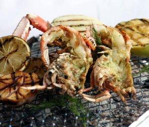 Prøv også Grillet sjøkreps med grillede grønnsaker.