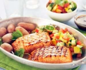 Prøv også Teriyakimarinert laks med grønnsakssalsa.