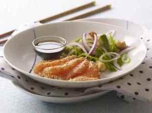 Prøv også Sesamlaks med spicy salat.