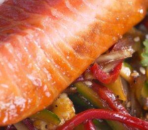 Prøv også Ørret med wokgrønnsaker.