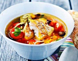 Prøv også Fiskesuppe a la minestrone.