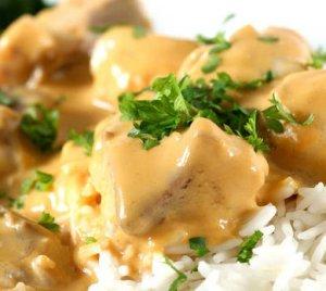 Prøv også Steinbit med ris og soppsaus.