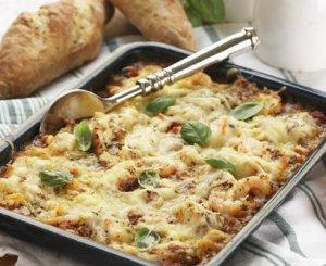Prøv også Lasagne med sei og reker.