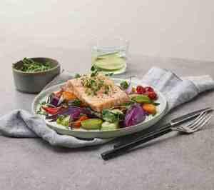 Prøv også Laks og grønnsaker i ovn.