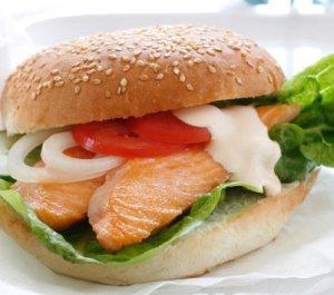 Prøv også Burger med laks.