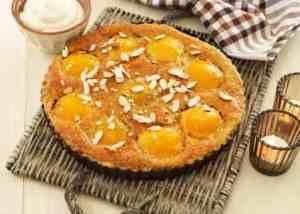 Prøv også Ferskenterte med mandelkrem.