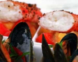 Prøv også Kongekrabbe med blåskjell og salsa fresca.