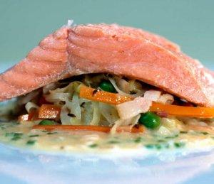 Prøv også Ishavsrøye med fersk surkål.
