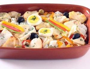 Prøv også Klippfisk og grønnsaker i form.