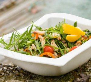 Prøv også Salat med krabbe.