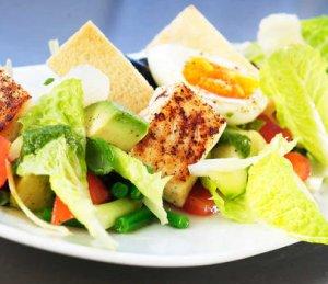 Prøv også Salat med stekt kveite.