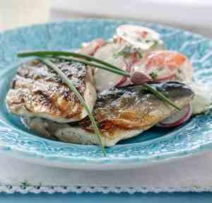 Prøv også Grillet makrell med sommersalat.