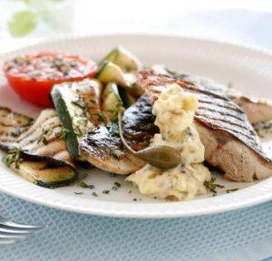 Prøv også Makrell med squash og tomat.