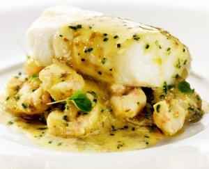 Prøv også Ovnsbakt torsk med smørsaus og reker.