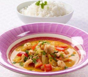 Bilde av Rekegryte med kokos og curry oppskrift.