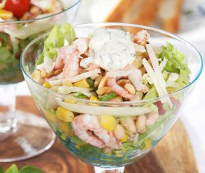 Prøv også Salat med reker.